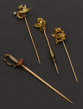 Estate Jewelry:Brooches - Pins, Four Unusual Pins. ... (Total: 4 Items)