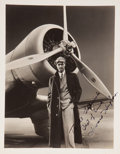 Movie/TV Memorabilia:Autographs and Signed Items, Howard Hughes Signed Photo to His Flight Manager, Al Lodwick....