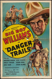 "Danger Trails (Beacon, 1935). One Sheet (27"" X 41""). Western"