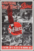 "Movie Posters:Sexploitation, The Defilers (Sonney Amusement Enterprises, 1965). One Sheet (28"" X42""). Sexploitation.. ..."