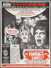 """The Maniacs are Loose (Hollywood Star, 1964). Special Poster (21"""" X 27.75""""). Horror"""