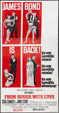 "Movie Posters:James Bond, From Russia with Love (United Artists, 1964). Three Sheet (41"" X 81"") Style B. James Bond.. ..."