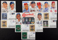 Baseball Collectibles:Others, Baseball Notables Signed Postcards and First Day Covers Lot of 16 - With George W. Bush Example!...