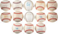 Autographs:Baseballs, Single Signed Baseball Collection Lot of 13 Including AROD, BoJackson, And Nolan Ryan!...