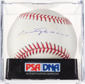 Baseball Collectibles:Balls, Luis Aparicio Single Signed Baseball PSA NM-MT+ 8.5. ...