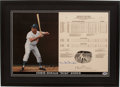 Baseball Collectibles:Others, Duke Snider Signed Print....