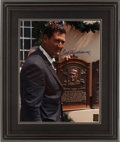Baseball Collectibles:Photos, Ted Williams Signed Oversized Photograph....