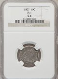 Early Dimes: , 1807 10C Good 6 NGC. JR-1. NGC Census: (2/200). PCGS Population(5/292). Mintage: 165,000. Numismedia Wsl. Price for probl...