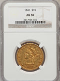 Liberty Eagles, 1841 $10 AU50 NGC....