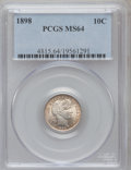Barber Dimes: , 1898 10C MS64 PCGS. PCGS Population (94/96). NGC Census: (108/92).Mintage: 16,320,735. Numismedia Wsl. Price for problem f...