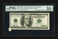Error Notes:Attached Tabs, Fr. 2175-A $100 1996 Federal Reserve Note. PMG About Uncirculated55 EPQ.. ...