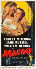 "Movie Posters:Film Noir, Macao (RKO, 1952). Three Sheet (41"" X 81"").. ..."