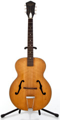 Musical Instruments:Acoustic Guitars, 1960's Harmony Patrician Natural Archtop Acoustic Guitar #N/A...