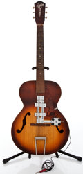 Musical Instruments:Electric Guitars, 1950's Silvertone P4 Sunburst Semi-Hollow Body Electric Guitar#6966750...