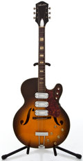 Musical Instruments:Electric Guitars, 1960's Silvertone 1429 Sunburst Semi-Hollow Body Electric Guitar#388H1429...