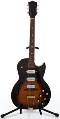 Musical Instruments:Electric Guitars, Early 1960's Harmony Kay Speed Demon Sunburst Semi-Hollow BodyElectric Guitar #N/A...
