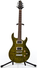 Musical Instruments:Electric Guitars, Recent Samick Ultramatic Trans Green Solid Body Electric Guitar #SI060901317...
