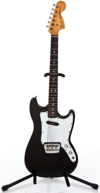 1978 Fender Musicmaster Black Solid Body Electric Guitar #S811967