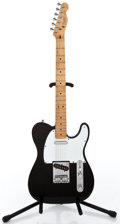 Musical Instruments:Electric Guitars, 1983 Fender Telecaster Black Solid Body Electric Guitar #E322139...