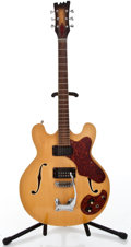 Musical Instruments:Electric Guitars, 1970's Mosrite Celebrity Natural Semi-Hollow Body ElectricGuitar...