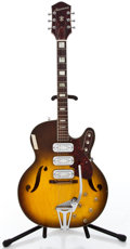 Musical Instruments:Electric Guitars, 1960's Harmony H78 Sunburst Semi-Hollow Body Electric Guitar#2724H1429...