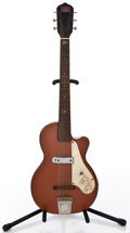 Musical Instruments:Electric Guitars, 1950's Harmony Stratatone Refinished Solid Body Electric Guitar #N/A...