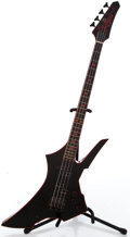 Musical Instruments:Bass Guitars, 1980's Takamine Gothic Bass Black Electric Bass Guitar...