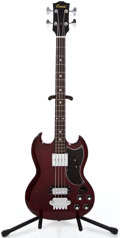 Musical Instruments:Bass Guitars, 1960's Conrad EB3 Red Electric Bass Guitar #N/A...