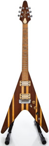 Musical Instruments:Electric Guitars, 1980's O'Hagan V Multi-wood Solid Body Electric Guitar #A29024...