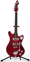 Musical Instruments:Electric Guitars, 1960's Teisco Del Ray Red Semi-Hollow Body Electric Guitar#262439...