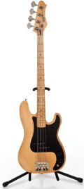 Musical Instruments:Bass Guitars, 1980's Harmony P Bass Natural Electric Bass Guitar #N/A...