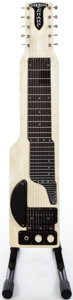 Musical Instruments:Lap Steel Guitars, 1955 Alkire E Harp 10 White Mots Lap Steel Guitar #X53363...