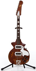Musical Instruments:Electric Guitars, 1950's Vintage Homemade Mahogany Solid Body Electric Guitar ...