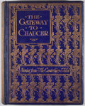 Books:Children's Books, Emily Underdown. The Gateway to Chaucer. London: ThomasNelson, [ca. 1919]. Octavo. Publisher's binding. Illus...