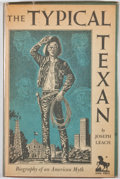 Books:Signed Editions, Joseph Leach. SIGNED BY JOSE CISNEROS. The Typical Texan. Dallas: Southern Methodist University Press, 1952. First e...