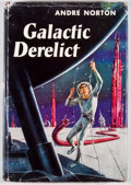 Books:First Editions, Andre Norton. Galactic Derelict. Cleveland: WorldPublishing, [1959]. First edition. Octavo. Publisher's bindingand...