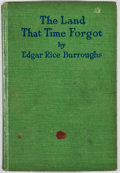 Books:Fiction, Edgar Rice Burroughs. The Land That Time Forgot. Chicago: A.C. McClurg, 1924. First edition. Octavo. Publisher's bi...