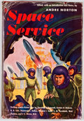 Books:First Editions, Andre Norton [editor]. Space Service. Cleveland: WorldPublishing, [1953]. First edition, first printing. Octavo. Pu...