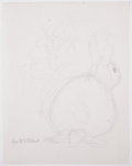 Antiques:Posters & Prints, Garth Williams. Original preliminary drawings for illustrations inThe Rabbits' Wedding, 1958. Pencil on pap... (Total: 2Items)