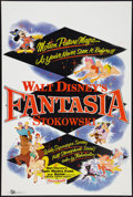 "Movie Posters:Animation, Fantasia (Buena Vista, R-1958). One Sheet (27"" X 41""). Animation....."