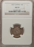 Bust Dimes: , 1837 10C AU53 NGC. NGC Census: (4/101). PCGS Population (4/78).Mintage: 359,500. Numismedia Wsl. Price for problem free NG...