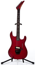 Musical Instruments:Electric Guitars, 1980's Kramer American Candy Apple Red Solid Body Electric Guitar#E 4337...