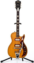 Musical Instruments:Electric Guitars, 1950's Harmony Stratone H49 Natural Semi-Hollow Body ElectricGuitar ...