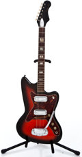 Musical Instruments:Electric Guitars, 1960's Silvertone Bobcat Redburst Solid Body Electric Guitar...