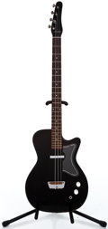 Musical Instruments:Bass Guitars, 1950's Silvertone Danelectro Black Electric Bass Guitar #N/A...