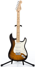 Musical Instruments:Electric Guitars, 2004 Fender Stratocaster 50th Sunburst Solid Body Electric Guitar#Z4021190...