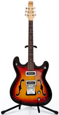 Musical Instruments:Electric Guitars, 1960's Baldwin Vibraslim Sunburst Semi-Hollow Body Electric Guitar#18038...