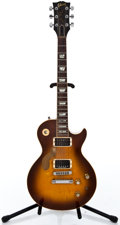 Musical Instruments:Electric Guitars, 1976 Gibson Les Paul Deluxe Sunburst Solid Body Electric Guitar#00130670...