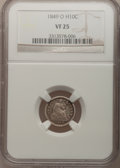 Seated Half Dimes: , 1849-O H10C VF25 NGC. NGC Census: (2/42). PCGS Population (2/43).Mintage: 140,000. Numismedia Wsl. Price for problem free ...