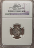 Bust Dimes: , 1828 10C Large Date--Improperly Cleaned--NGC Details. AU. NGCCensus: (2/15). PCGS Population (3/11). Mintage: 125,000. Num...